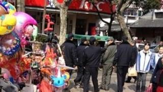 中国の城管の執行