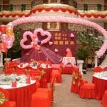 中国の披露宴会場で座る場所の表記