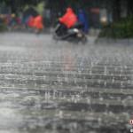 中国で大雨の時はシャンプーします