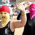 中国発:顔ビキニが最新モードに!