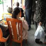 公共バスを快適に乗るための中国人のひと工夫