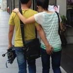 腕を組んで歩いたりしない中国のカップル