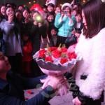 バレンタインデー前後の花束の移り変わり