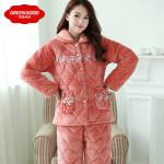 中国の綿入れパジャマは冬の時期は無敵の装備、パジャマなのにどこにでもいけちゃうしネ