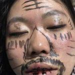 飲みすぎる奥様を持った中国の旦那さんが腕を上げた芸術スキル