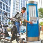 中国の電動バイク用充電スタンドの最近のモデル