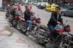 中国のバイクタクシー