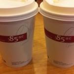 台湾のカフェチェーン店:85度C