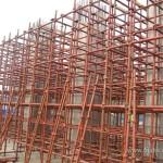 中国の建築現場の足場