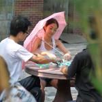 中国の人の日傘の活用度がかなり?な件