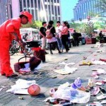 ゴミのポイ捨て禁止の貼り紙