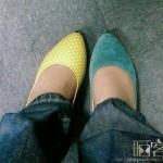 中国の靴を履き間違える人