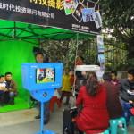 中国の面白写真サービスの露店