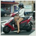 中国のかっこいいバイク女性