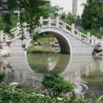 中国の橋のある風景はスケッチに最適?