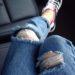 中国のジーンズのダメージ加工とダメージを癒す加工