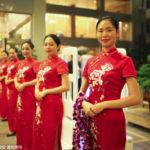 中国のイベントでのおもてなし美女スタッフの進化具合