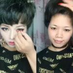 中国美女の秘密:顔面盛り土