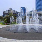 中国の各都市に見られる広場の噴水