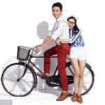 中国の自転車の二人乗りのちょっと変わった乗り方