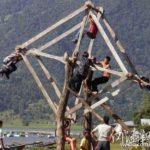 中国の田舎にある手作り感満載のアトラクション