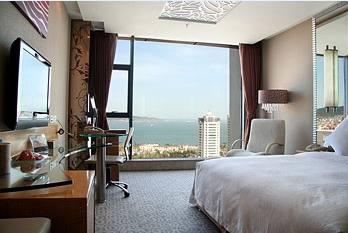 中国のオーシャンビューホテルの景色